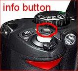 info button on Nikon D40