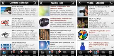 SLR Photography Guide iPhone App