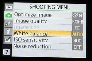 white balance camera setting
