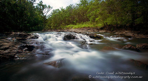 Landscape photograph of rock cascades taken with a Canon 5D Mark III
