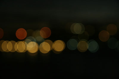 example of one second shutter speed at night