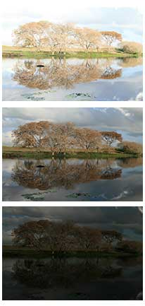 example of different exposures