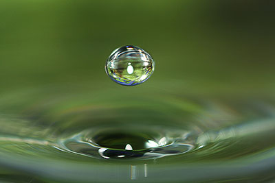 Selling stock photography example 1, photo of water drop sold through Getty Images