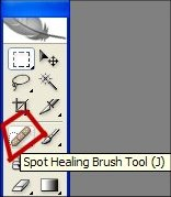 spot healing brush Photoshop