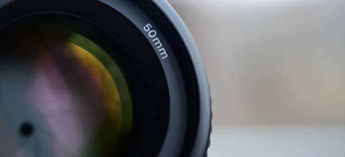 50 mm prime lens image