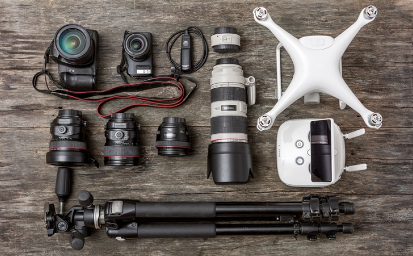 Photography gear.